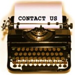 CONTACT US TYPEWRITER copy