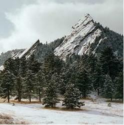 BOULDER SNOW FLATIRONS