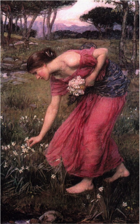 """Narcissus"" painting by J. Waterhouse"