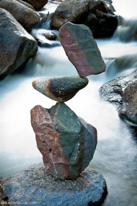 Rock Balancing art by Michael Grab