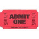 RED MOVIE TICKET