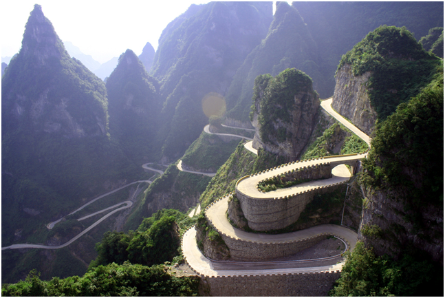 china winding highway