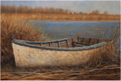 BOAT IN REEDS