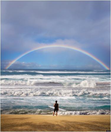 RAINBOW ON OCEAN