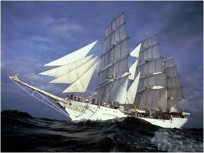 SAILING SHIP-HIGH SEAS