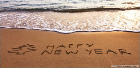 HAPPY NEW YEAR IN SAND