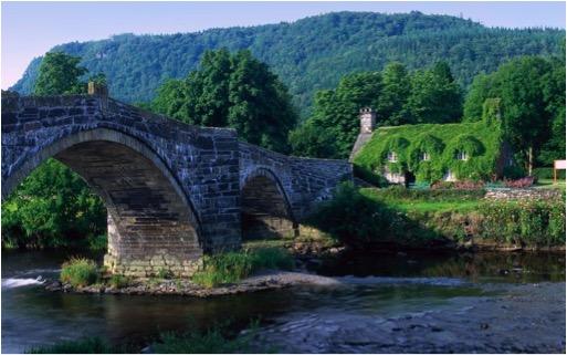 Llanrwst Bridge, Conwy River, Wales